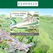 Ausschnitt einer Karte von Clovelly