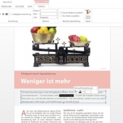 Screenshot einer Textbearbeitung im PDF