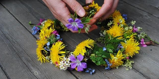 Blumenkranz zu Mittsommer